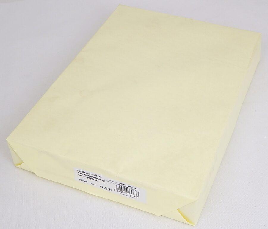 Papír náčrtníkový A3,CHAMOIS