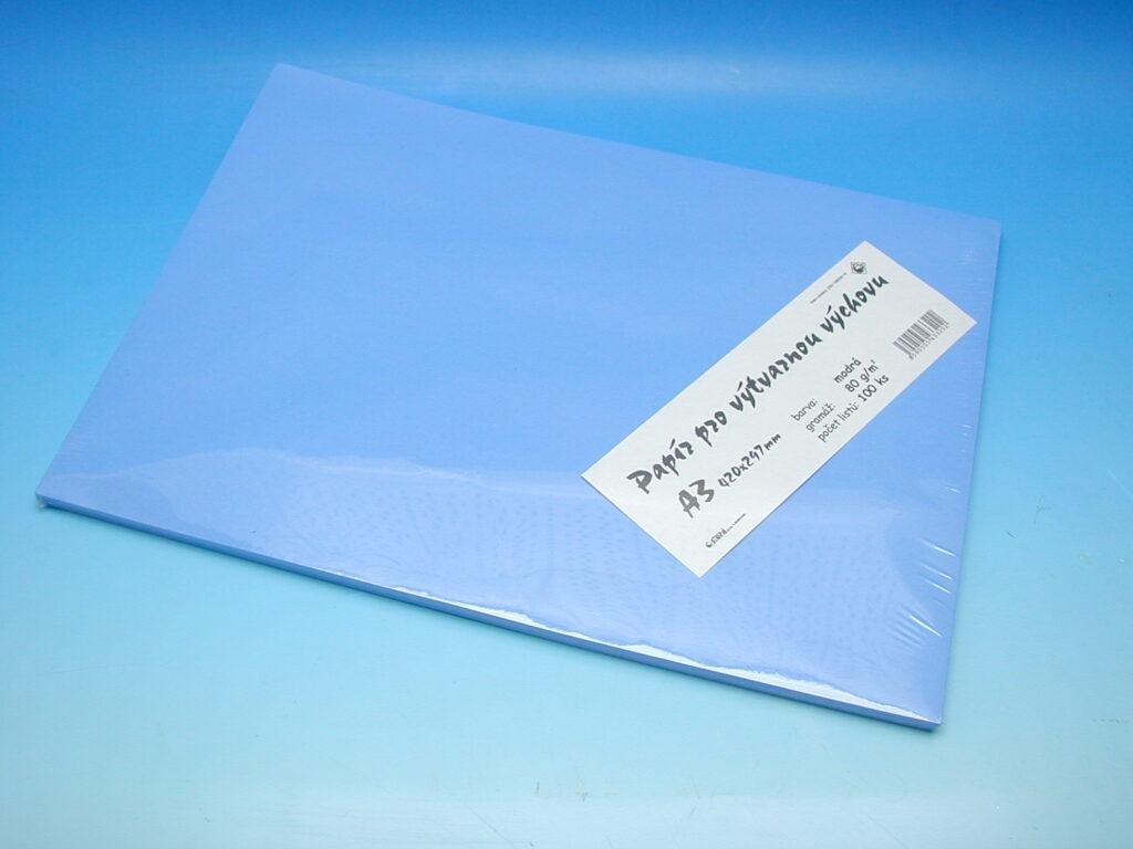 Papír A3 modrý EKO 100ks