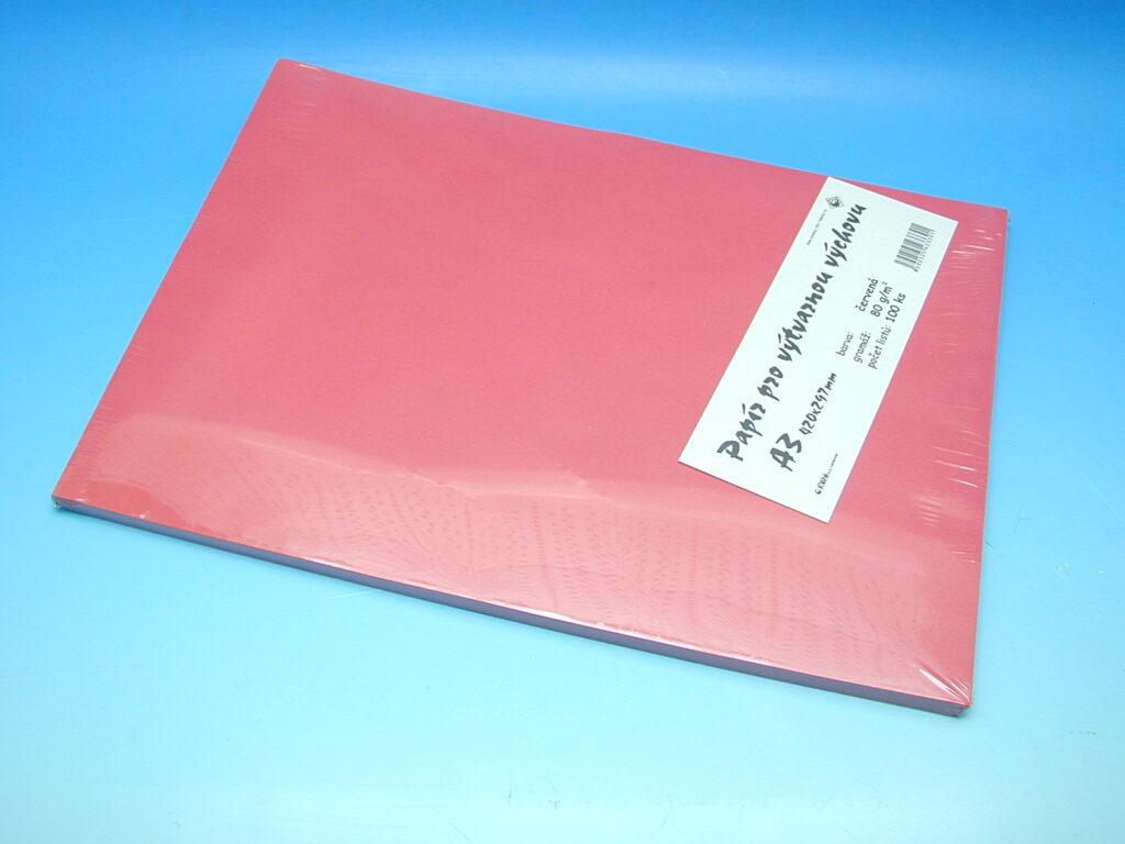 Papír A3 červený EKO 100ks