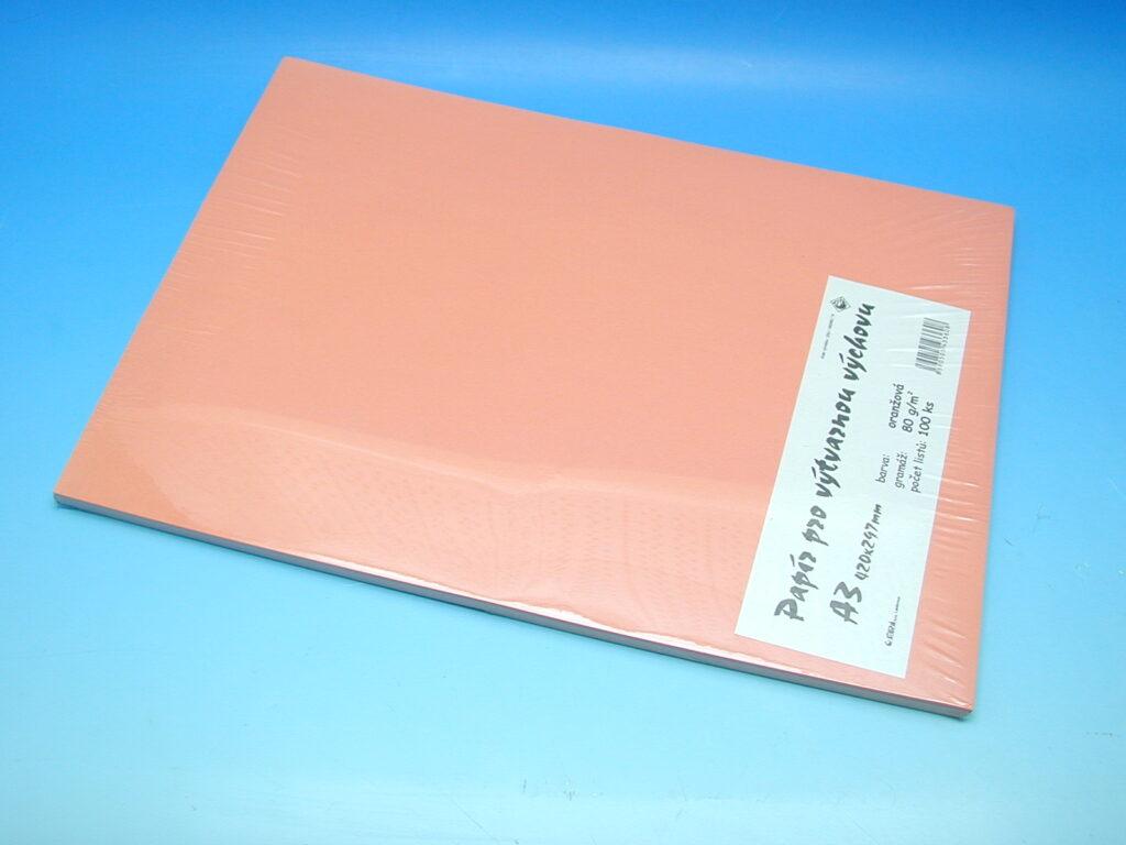 Papír A3 oranžový EKO 100ks
