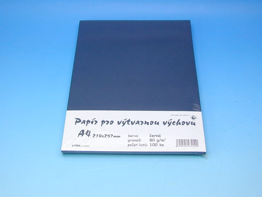 Papír A4 černý EKO 100ks