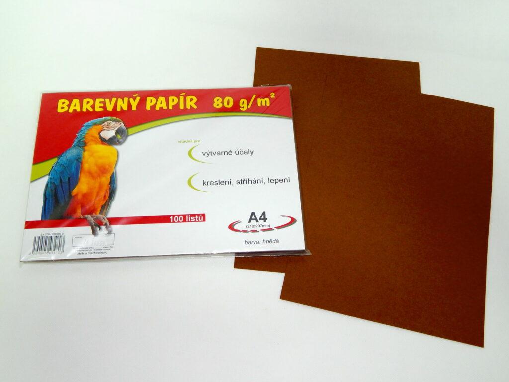 Papír A4 hnědý EKO 100ks / ks