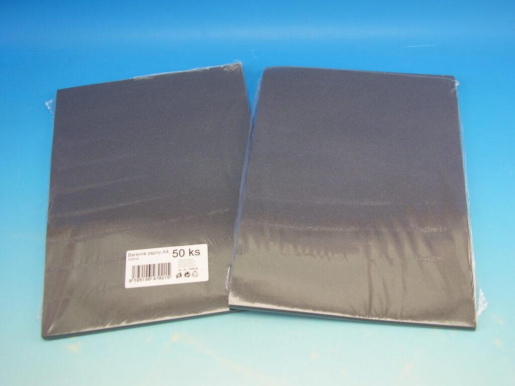 Papír A4 ČERNÝ, 80 gr./m2, 50 listů