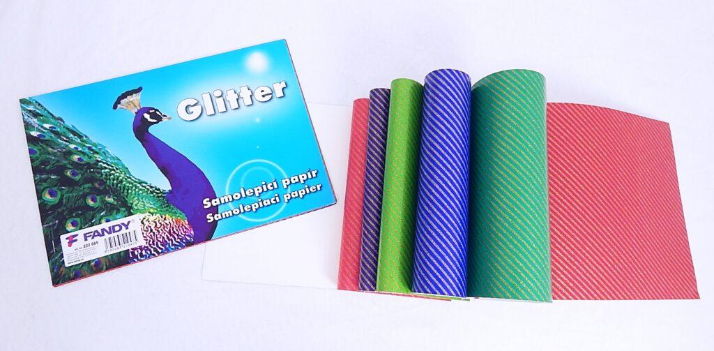 Samolepicí papíry Glitter / 222665