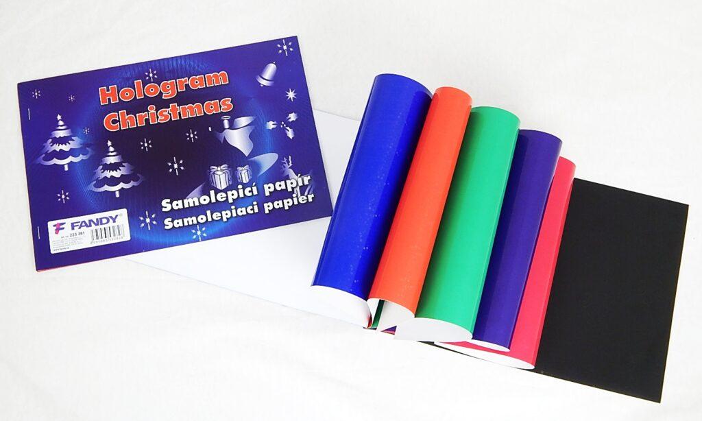 Samolepicí papíry Hologram Christmas /223381