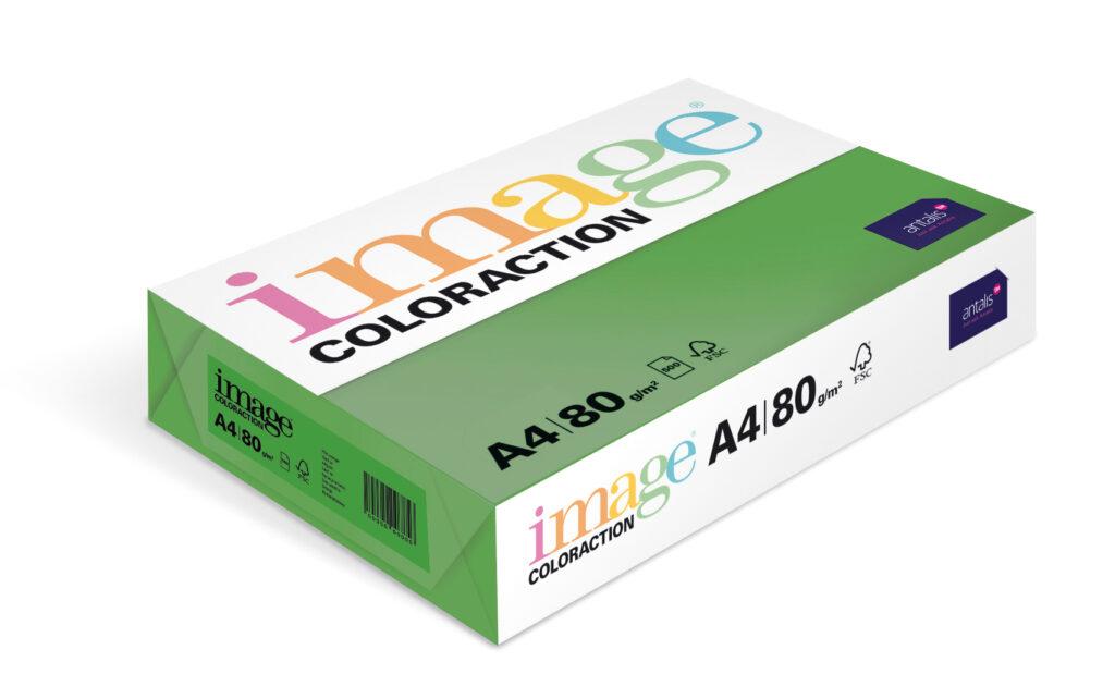 Papír kancelářský A4/100ks tm. zelený 80g, 393506
