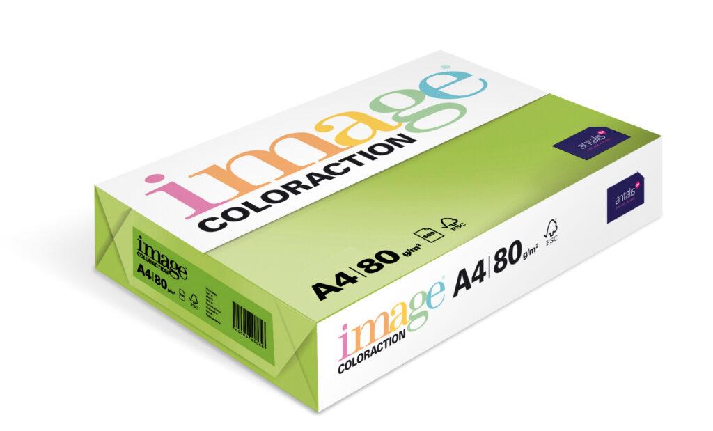 Papír kancelářský A4/100ks stř. zelený 80g, 393505