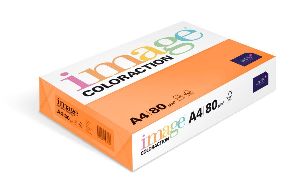 Papír kancelářský A4/100ks cihlově oranžový 80g, 393510