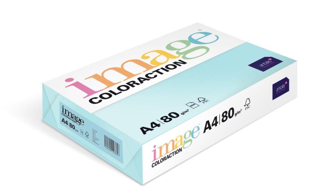 Papír kancelářský A4/100ks sytá modrá 80g, 393507