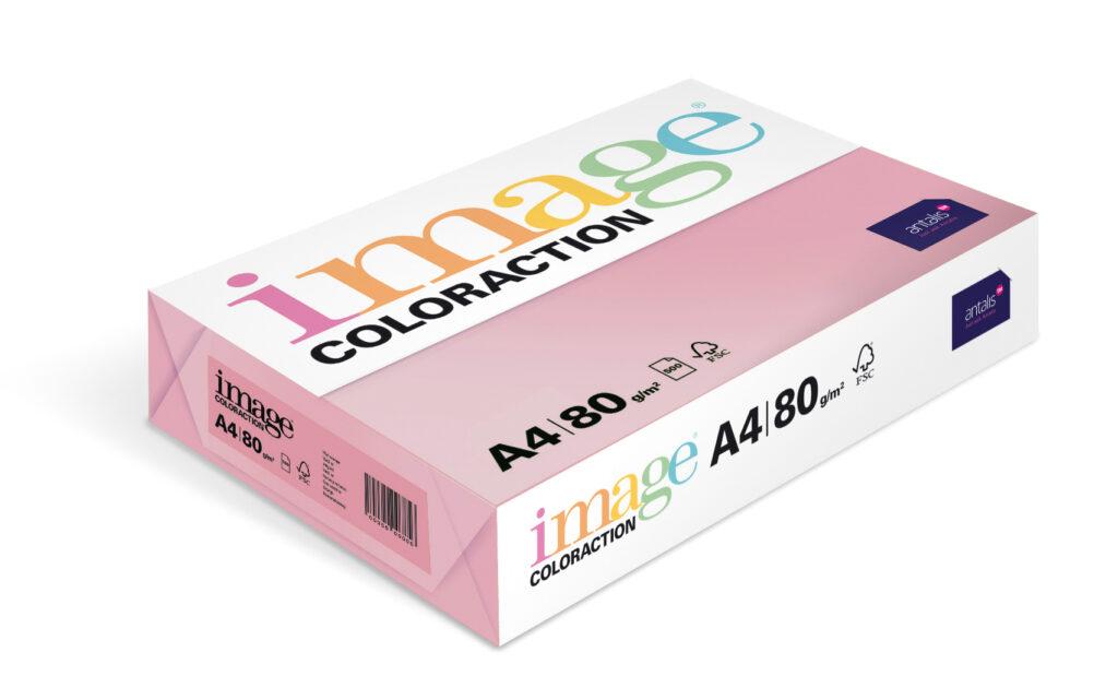 Papír kancelářský A4/100ks starorůžová 80g, 393495