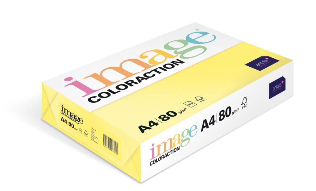 Papír kancelářský A4/100ks past. žlutá 80g, 393490