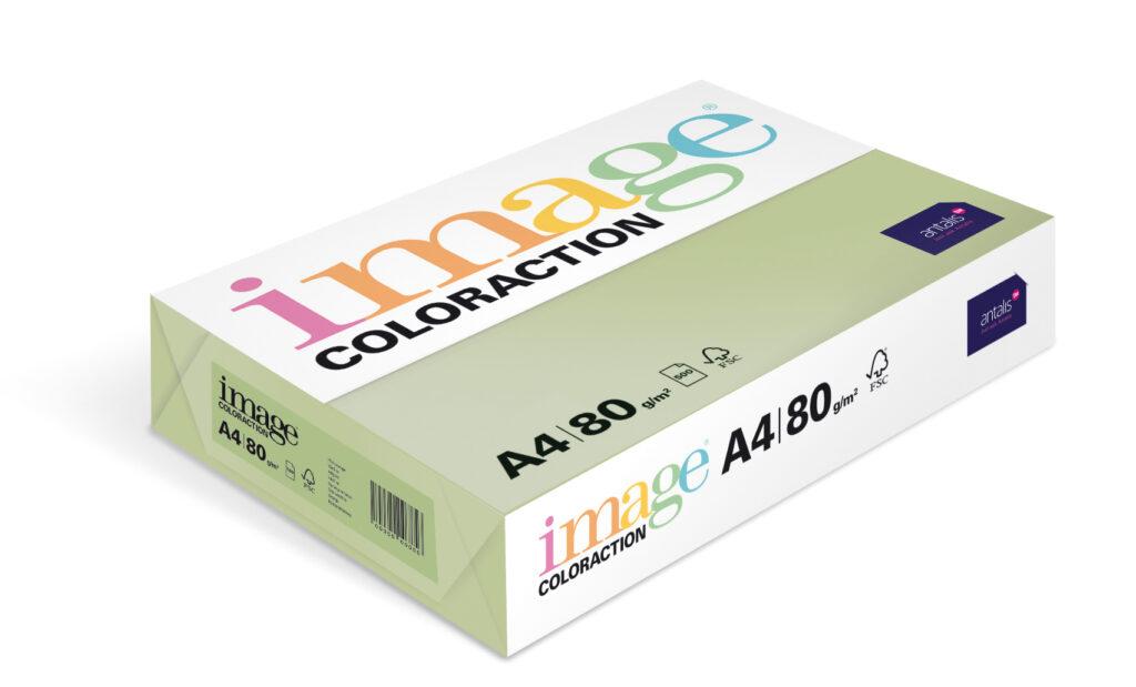 Papír kancelářský A4/100ks past. zelená 80g  ,393491