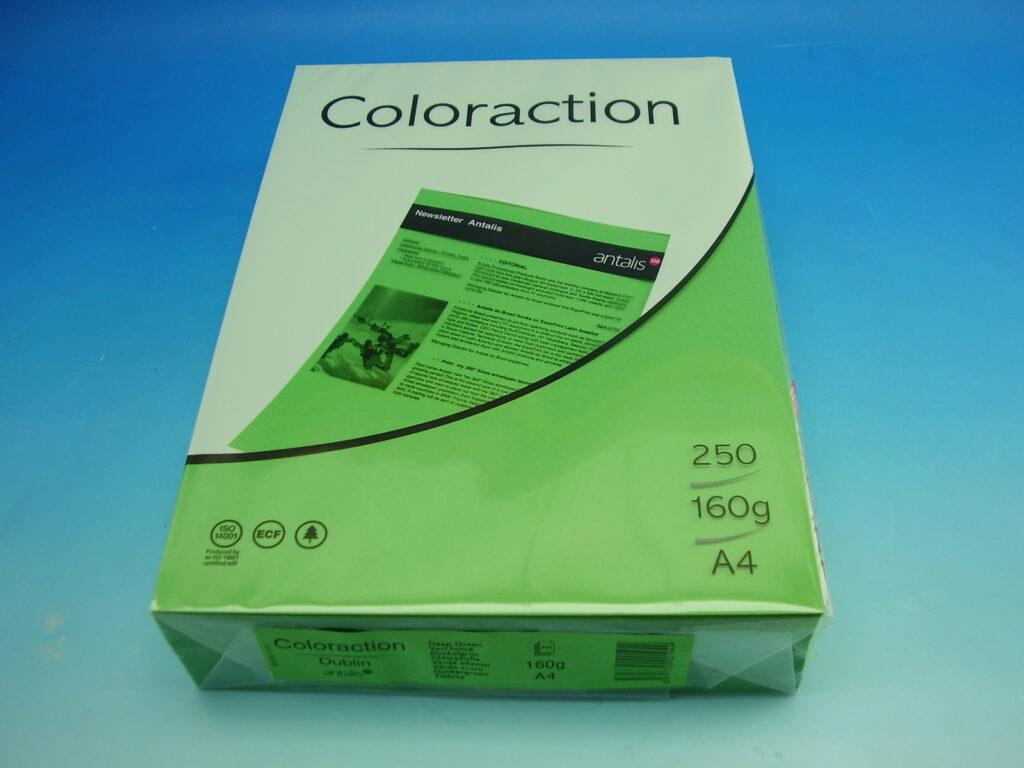 Papír kancelářský A4/250ks tm. zelená 160g, 382092