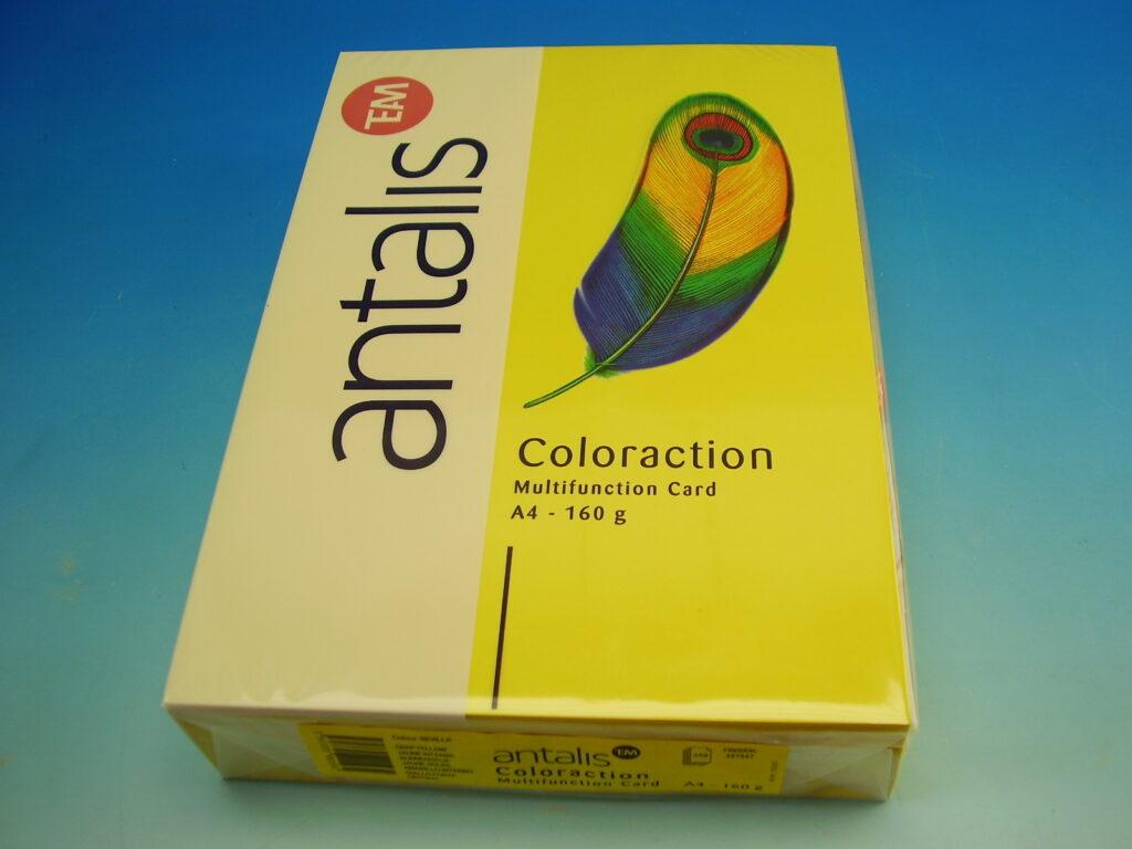 Papír kancelářský A4/250ks sytá žlutá 160g