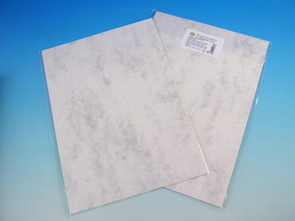 Papír kreat. TKP 08-MRAMOR bílý 50  5ks