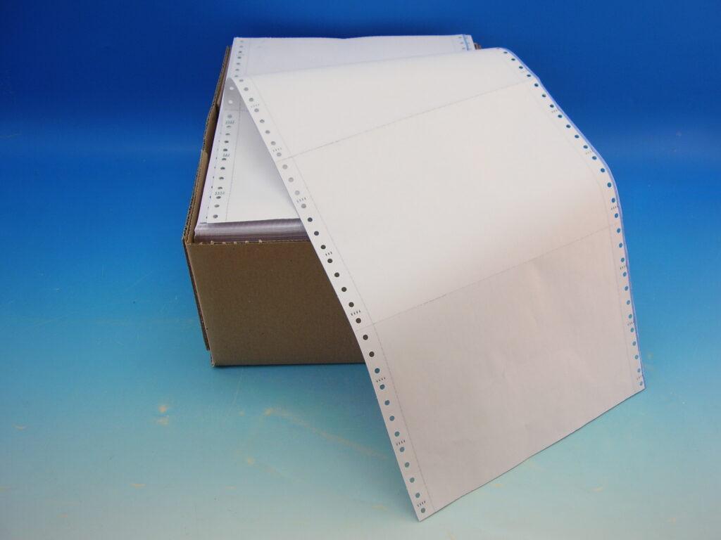 """Papír tabelační NCR 1+3  240x12""""/6"""" podél.odd."""