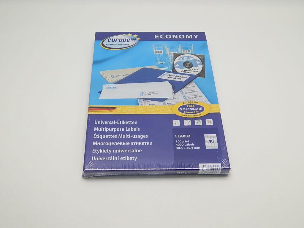 Etikety 48,5x25,4mm, bílé ELA002