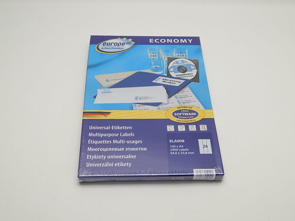 Etikety 64,6x33,8mm, bílé ELA008