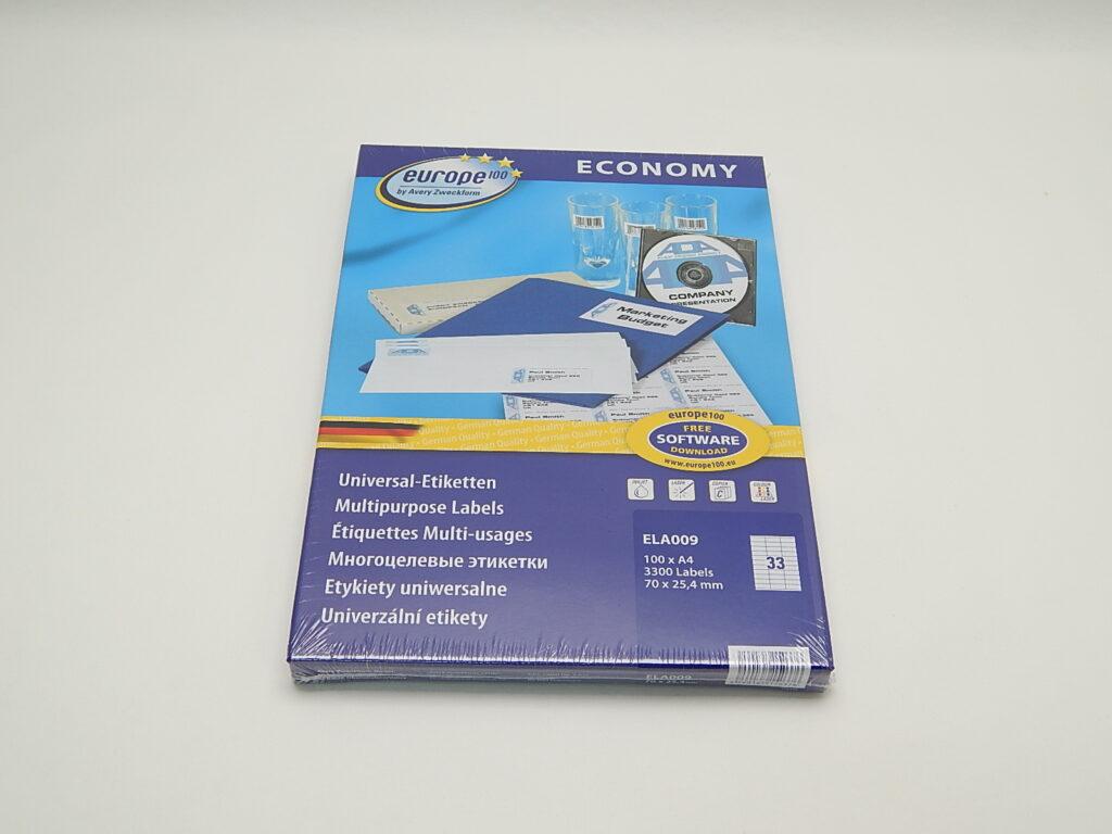 Etikety 70x25,4mm, bílé ELA009