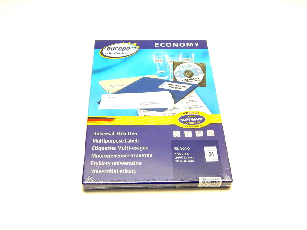 Etikety 70x36mm, bílé ELA010