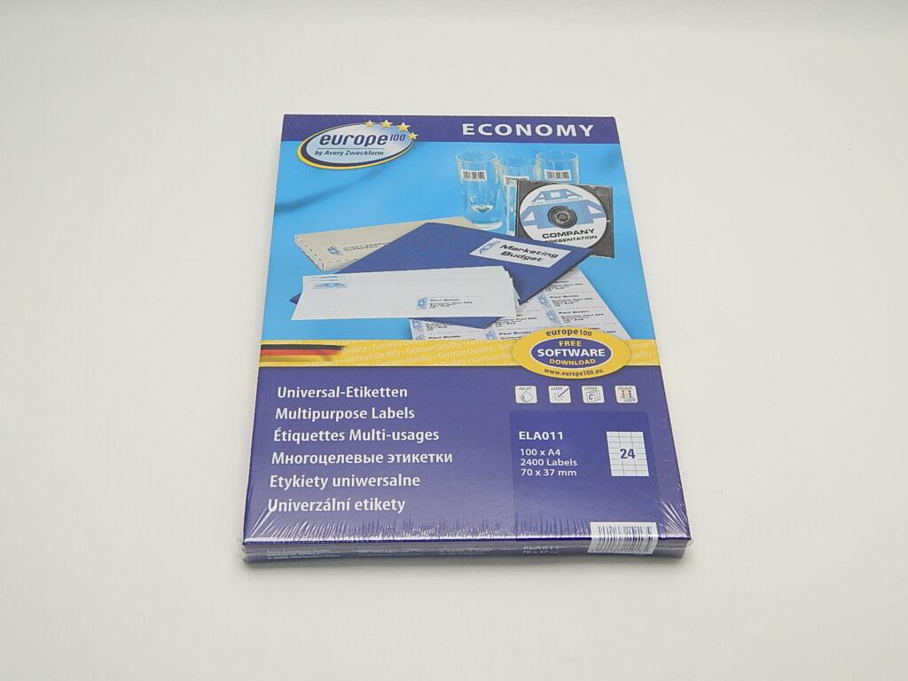 Etikety 70x37,1mm, bílé ELA011