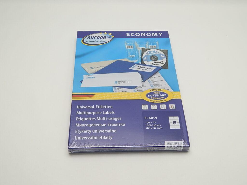Etikety 105x37,1mm, bílé ELA019