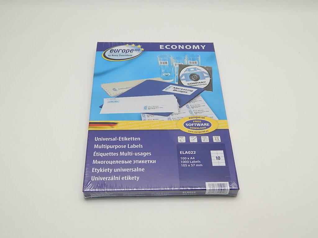 Etikety 105x57mm, bílé ELA022