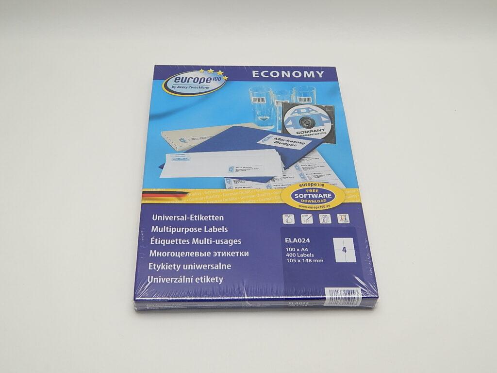 Etikety 105x148,5mm, bílé ELA024