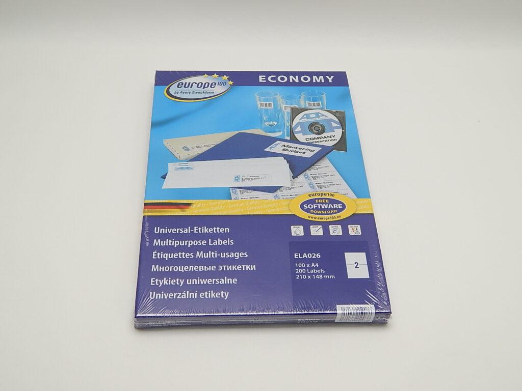 Etikety 210x148,5mm, bílé ELA026