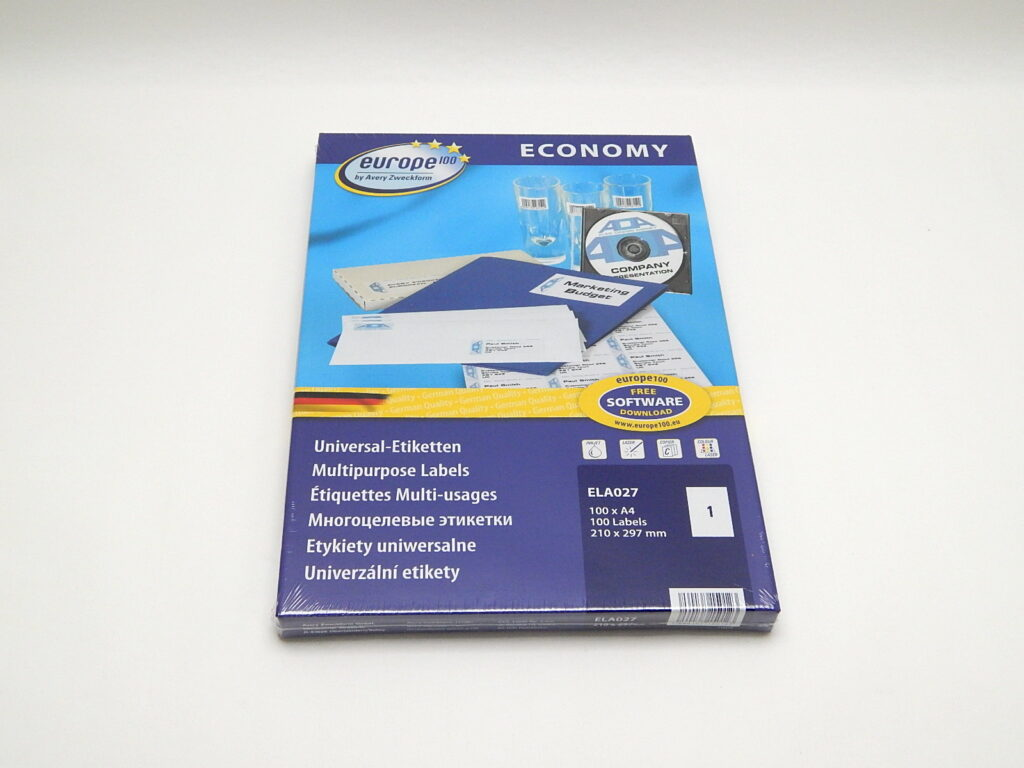 Etikety 210x297mm, bílé ELA027