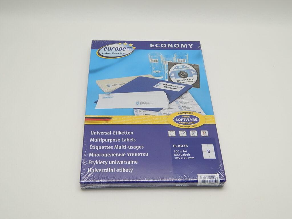 Etikety 105x70mm, bílé ELA036