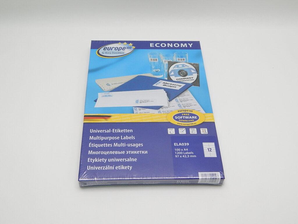 Etikety 97x42,3mm, bílé ELA039