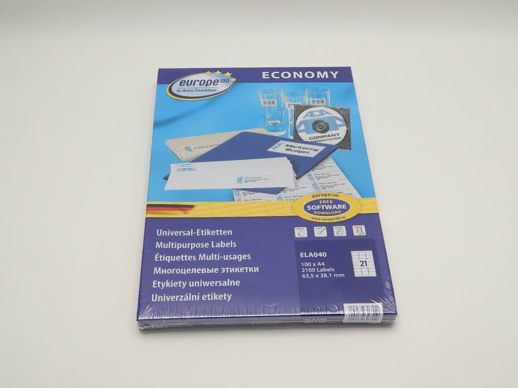 Etikety 63,5x38,1mm, bílé ELA040