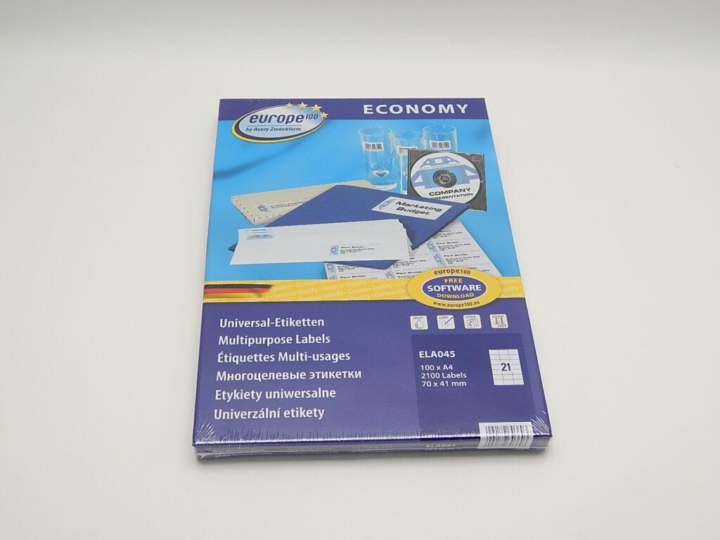 Etikety 70x41mm, bílé ELA045