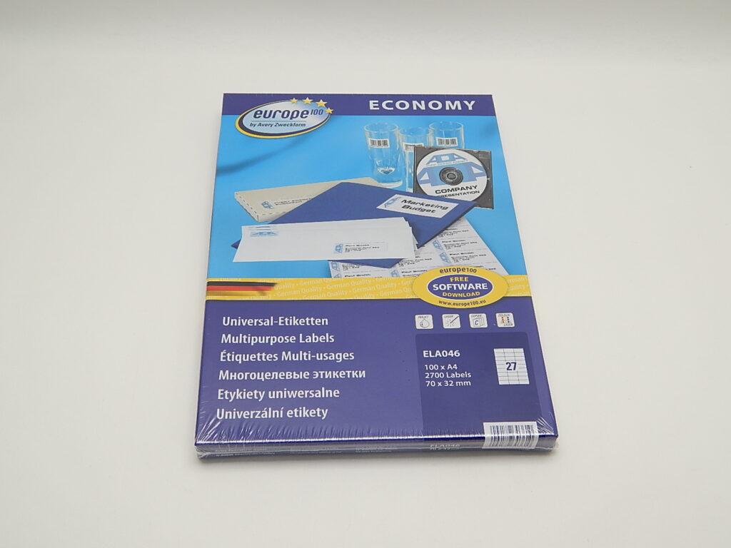 Etikety 70x32mm, bílé ELA046
