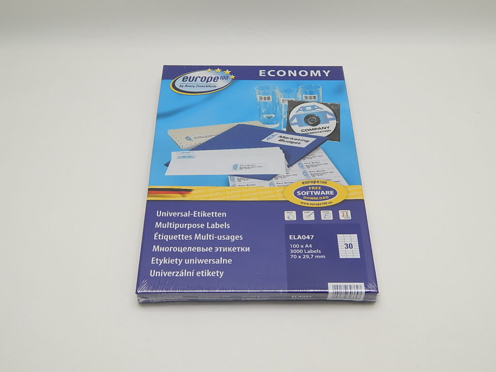 Etikety 70x29,7mm, bílé ELA047
