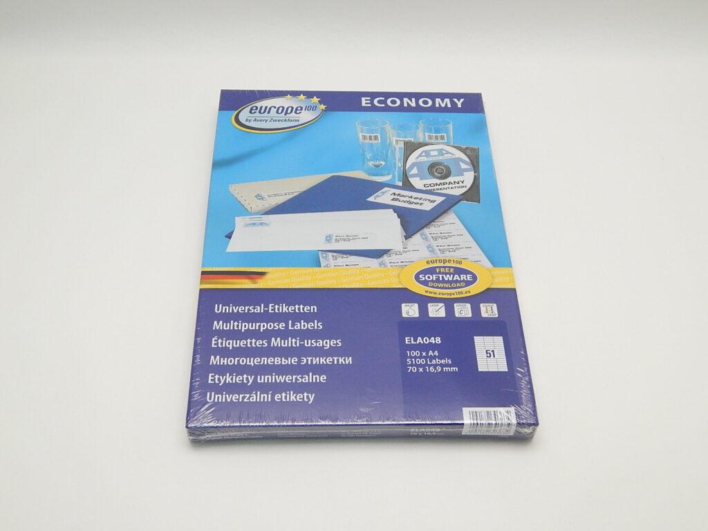 Etikety 70x16,9mm, bílé ELA048