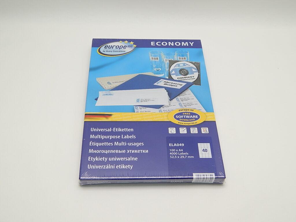Etikety 52,5x29,7mm, bílé ELA049
