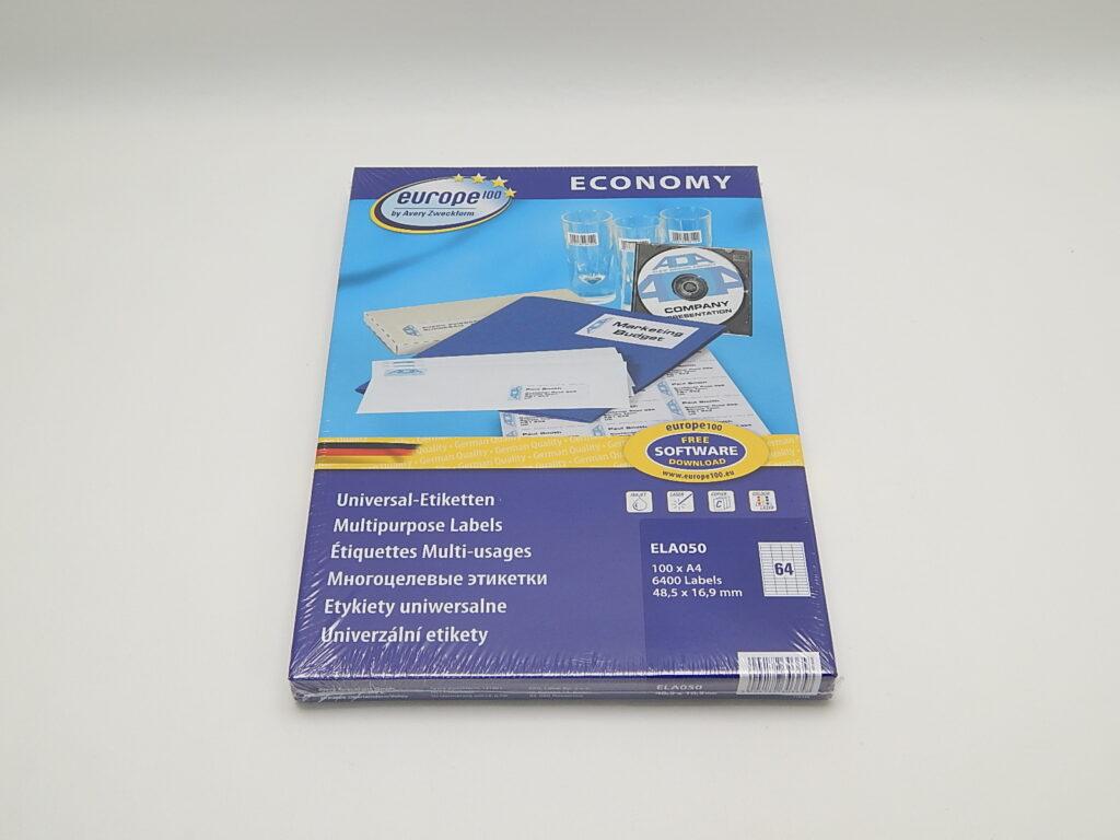 Etikety 48,5x16,9mm, bílé ELA050