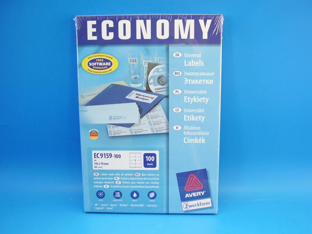 Etikety ECONOMY 105x70mm bílé, 9159-100EC
