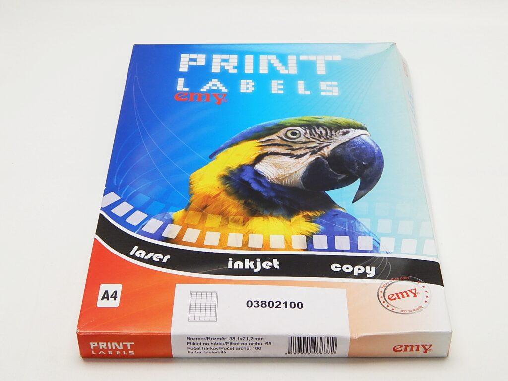 Etikety DATA LCJ01 38x21,2 mm bílé