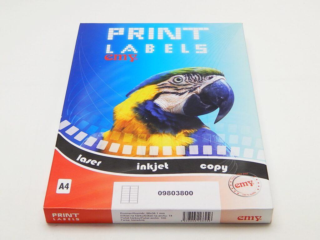 Etikety DATA LCJ52 98x38,1 mm bílé