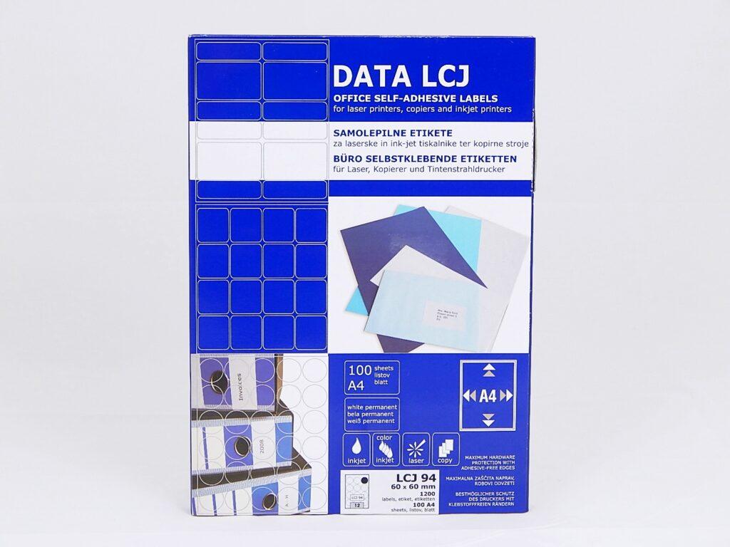 Etikety DATA LCJ94 60x60 mm bílé