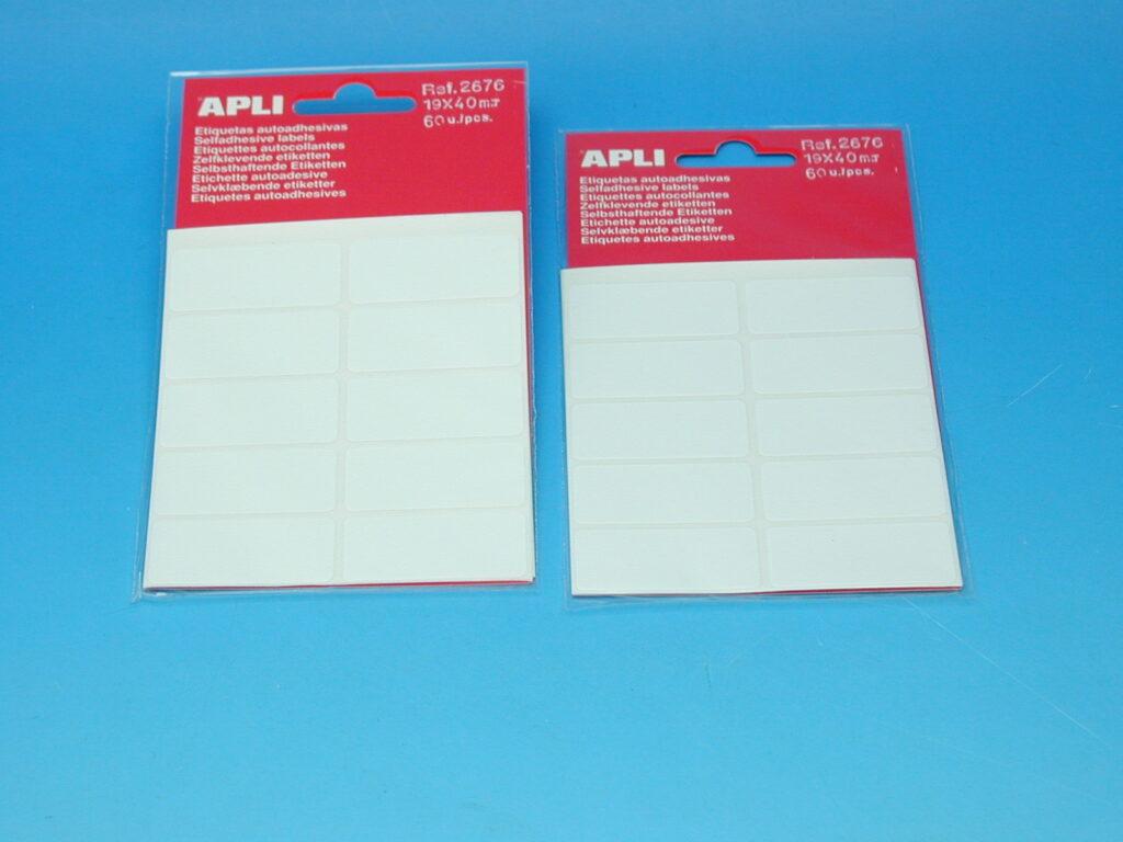 Etikety APLI 19x40mm bílé (2676)