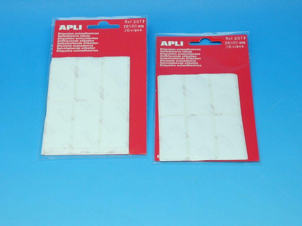 Etikety APLI 20x50mm bílé (2677)