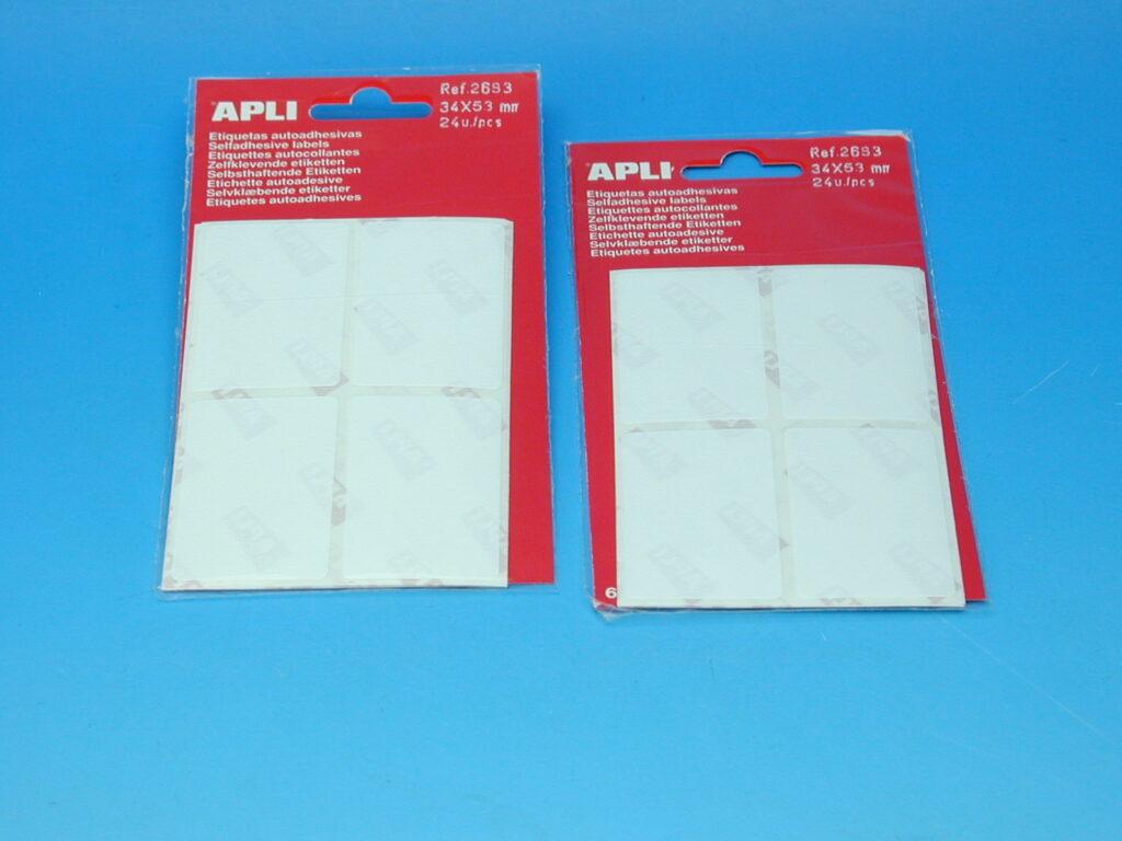 Etikety APLI 34x53mm bílé (2683)