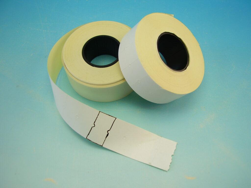 Etikety cenové snímací 22x12 bílé COLA-PLY