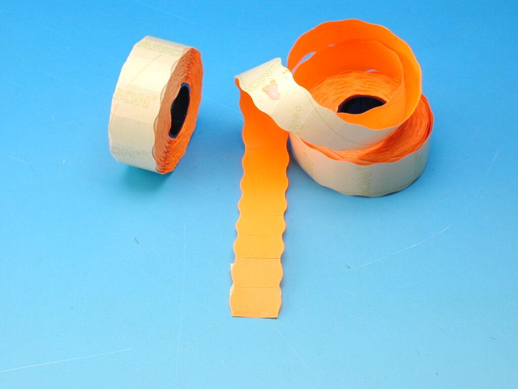 Etikety cenové 25x16 oranžové CONTACT