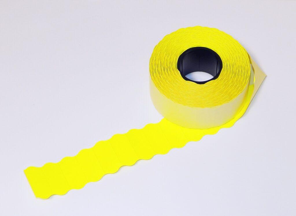 Etikety cenové 26x12 žluté CONTACT
