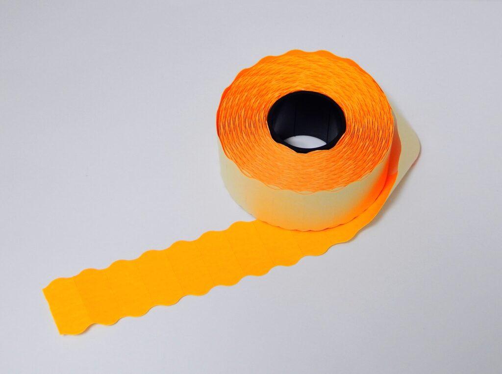 Etikety cenové 26x12 oranžové CONTACT